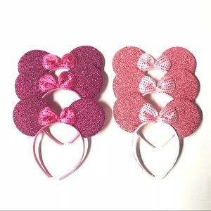 Accessories - Handmade Disney Ears Minnie Mouse with Bow Pink
